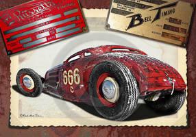 Rolling Bones red 34 RedHotTiki by RedHotTiki