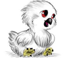 Chick harpy eagle by AlexisAthene