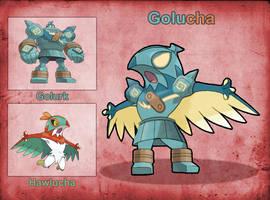 Poke Fusion - Golucha by PokeFusionMan