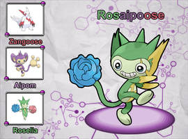 Poke Fusion - Rosaipoose by PokeFusionMan