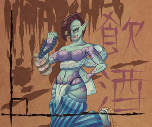 Female Oni Momoka by theMuesLee