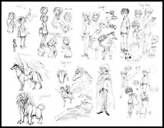 Character sketchs by dothaithanh