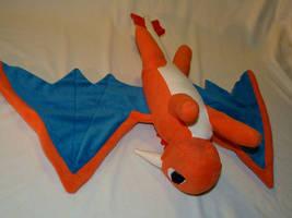Dragon plushie - back view by Fenmar