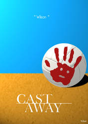 Cast Away Minimalist Poster by Tchav