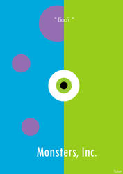 Monsters, Inc. Minimalist Poster. by Tchav