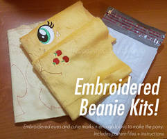 Embroidered DIY Pony Beanie Plush Kits by ButtercupBabyPPG