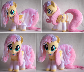 18in Fluttershy Plushie with Bridal Nighty by ButtercupBabyPPG