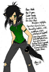 Another Colored Cat girl by RollingD34th