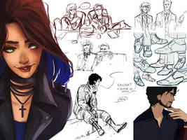 Sketchdump - April by senes
