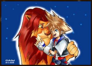 Sora and Simba by allymcbeal18 by AnimeDisneyClub