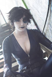 Resting : Domino : Deadpool by Lossien