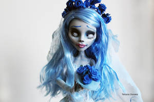Emily the corpse bride custom doll by Rin0730