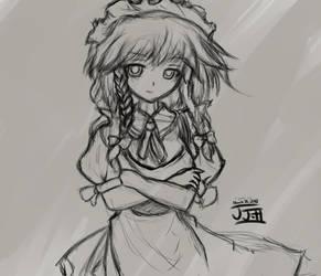 Sakuya Izayoi Sketch by JJdan