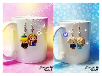 Frozen Couples Earrings by SentimentalDolliez