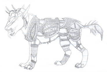 armored beast by skitzofox