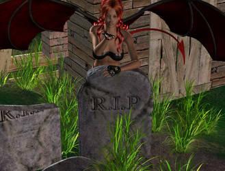 Redhead Demoness by Sheena-Tiger