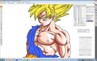 Goku ssj fs 2 by maffo1989