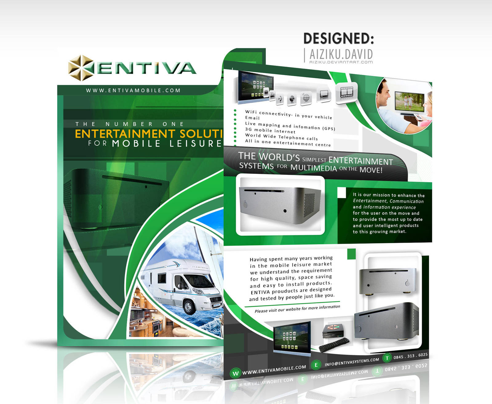 Formal Flyer Design Entiva by Aiziku