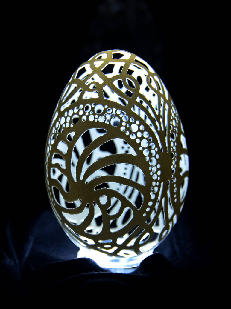 carved goose eggshell 25112013 - 2 by peregrin71