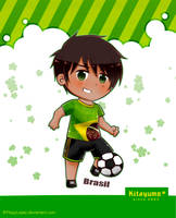 Football player Brazil by FlopyLopez