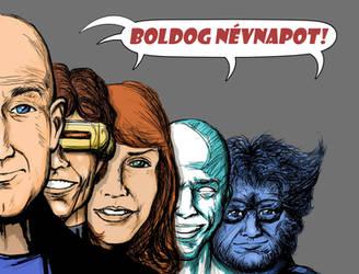 X-Men boldog nevnapot by LaYoosh