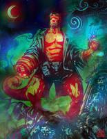Hellboy by SantaFung