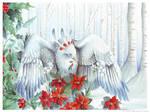 Birdflowers: Poinsettia - Dec. by windfalcon