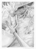 Baba Yaga Final Sketch - 1 by windfalcon