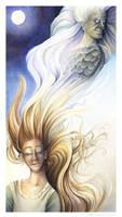 Baba Yaga and Vasilissa by windfalcon