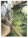Baba Yaga's Nightly Ride by windfalcon