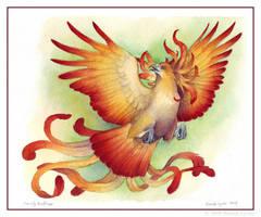 Firelily Birdflower - For Jess by windfalcon