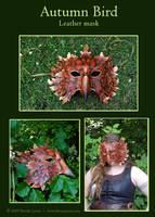 Autumn Bird - Leather Mask by windfalcon