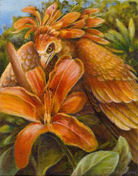 Tigerlily Nectarbird by windfalcon