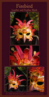 Firebird - Leather Mask by windfalcon