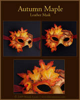 Autumn Maple - Leather Mask by windfalcon
