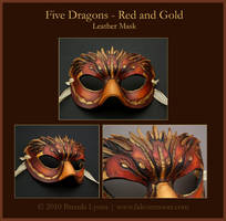 Five Dragons 2 - Leather Mask by windfalcon