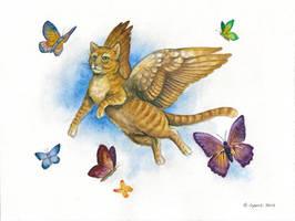 Blue Sky Kitty by windfalcon