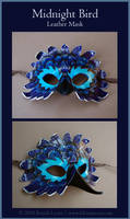 Midnight Bird - Leather Mask by windfalcon