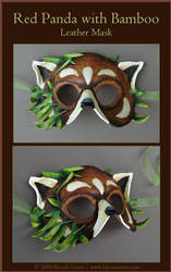 Red Panda - Leather Mask by windfalcon