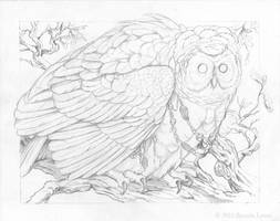 Haunted Pause - Pencil by windfalcon