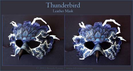 Thunderbird - Leather Mask by windfalcon