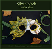 Silver Birch - Leather Mask by windfalcon
