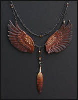 Royal Gryphon Leather Necklace by windfalcon