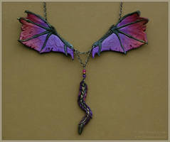 Dragon Wings - Leather Necklace by windfalcon