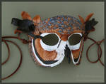 Great Horned Owl II - Leather Mask by windfalcon