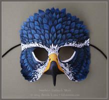 Northern Goshawk - Leather Mask by windfalcon