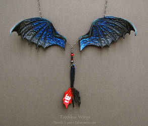 Toothless Wings - Leather Necklace by windfalcon