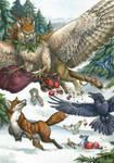 Dashing Through the Snow - Print by windfalcon