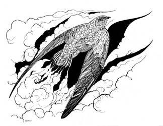 Inktober Day 1 - Swift by windfalcon
