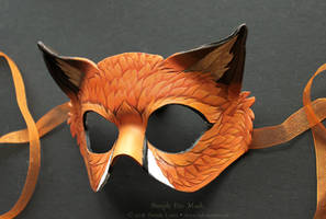 Simple Fox Leather Mask by windfalcon